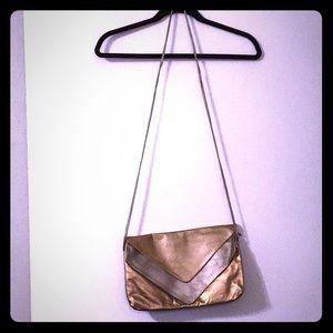 Handbags - Metallic Shoulder Bag